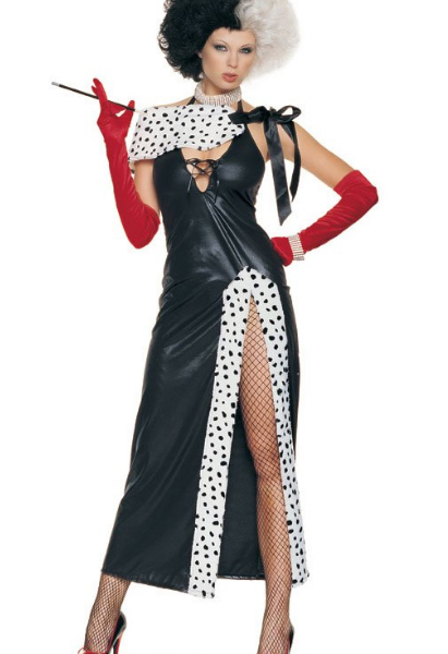 Wicked Sexy Cruella De Vil Inspired Adult Women Halloween Costume